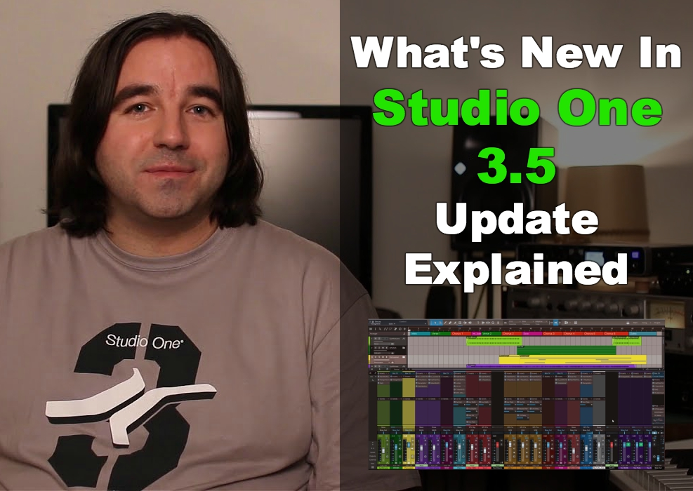 Studio one Update 3.5 update explained
