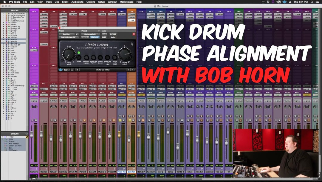 kick drum phase alignment with bob horn