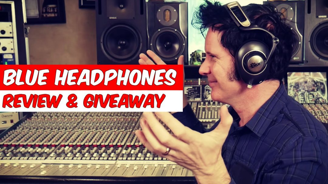 blue headphones review & giveaway