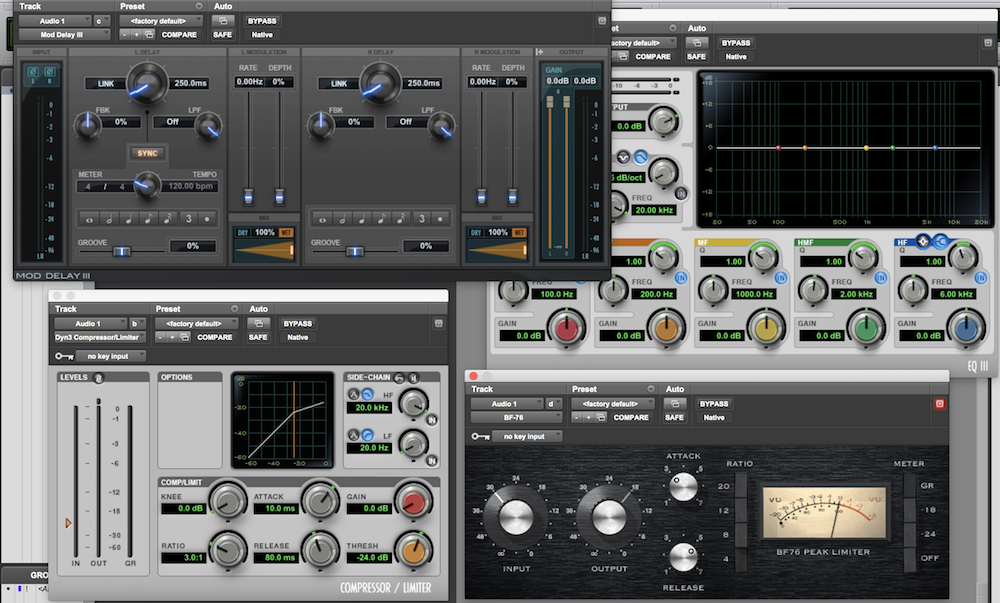 7 Stock Pro Tools Plugins Covering All the Basics