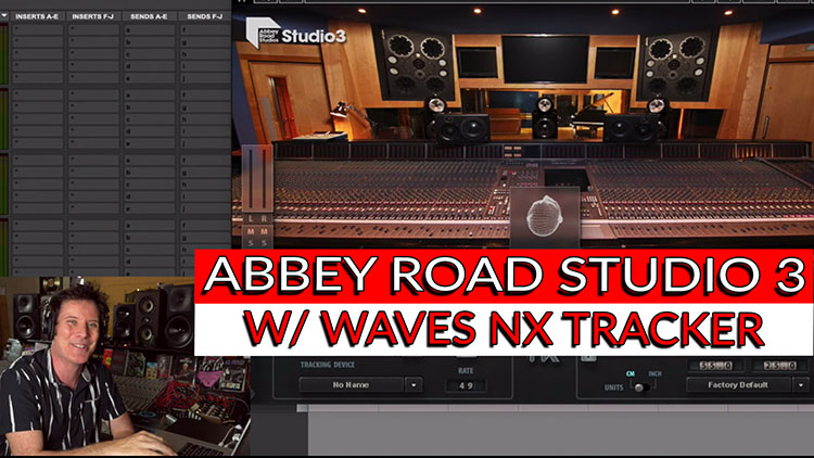 Waves NX Tracker in Abbey studio 3-1