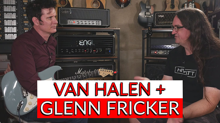 Checking out Van Halen's amp with Glenn Fricker