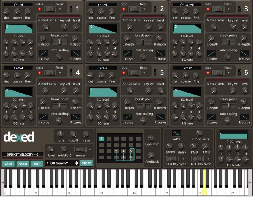 Dexed VST | Free Yamaha DX7 Plugin